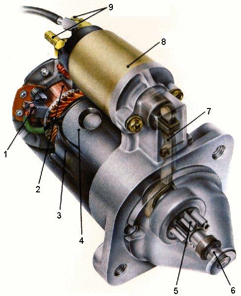 Componente demaror (electromotor)